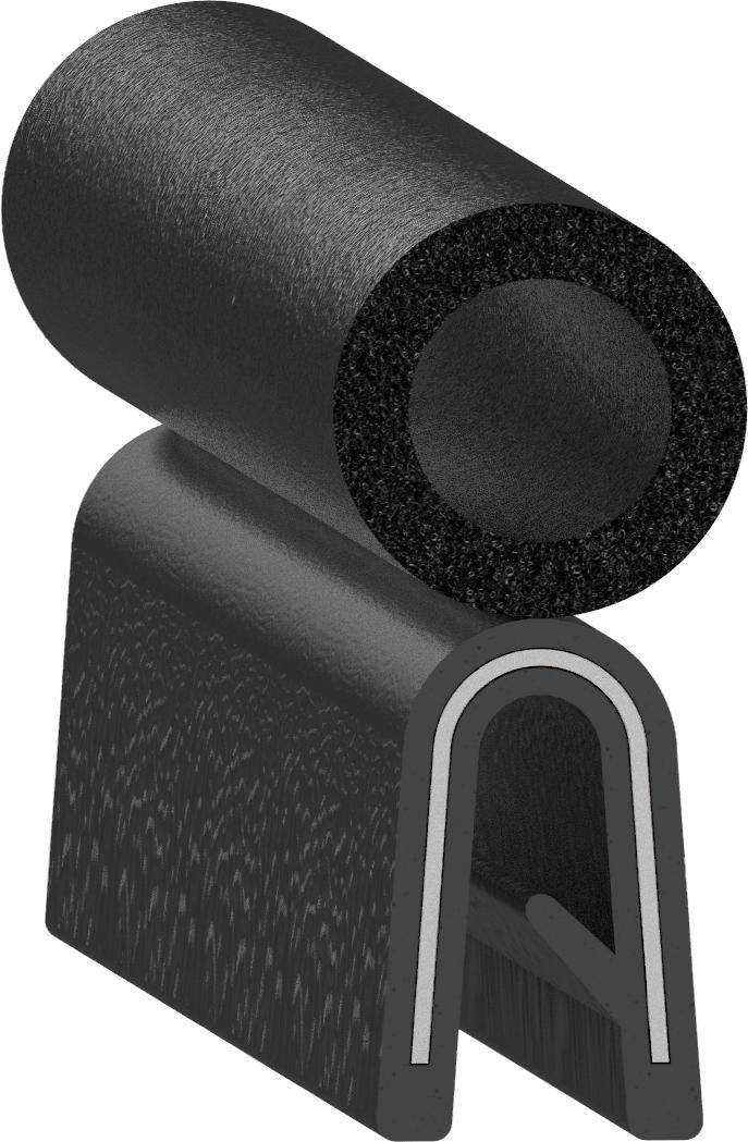 Uni-Grip part: SD-1205-AL-3/16in-7/16in Top Bulb